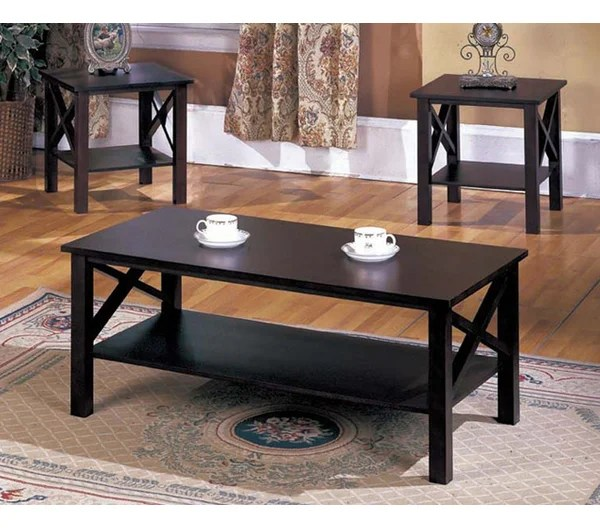 Andover Mills Zelda 3 Piece Coffee Table Set \ Reviews Wayfair - 3 piece living room table set