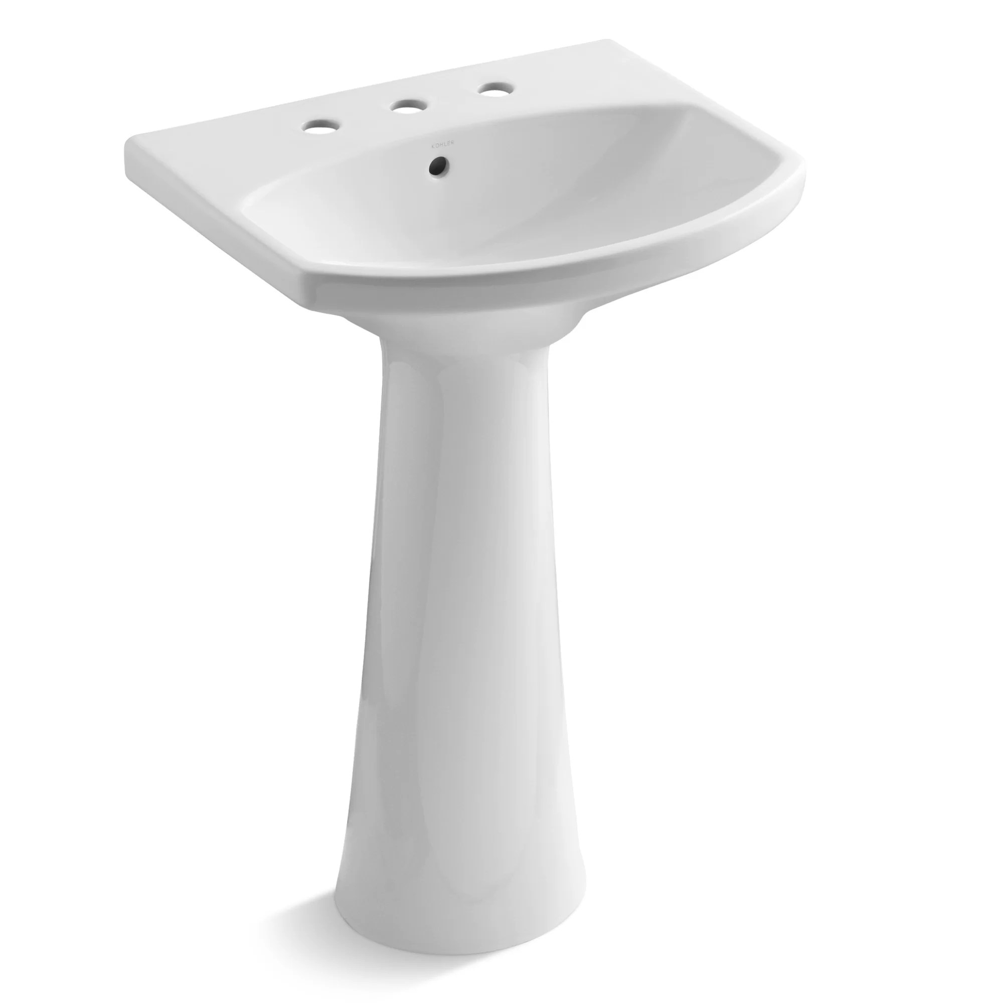Industrial Pedestal Sink Kohler Cimarron 23 Quot Pedestal Bathroom Sink And Reviews