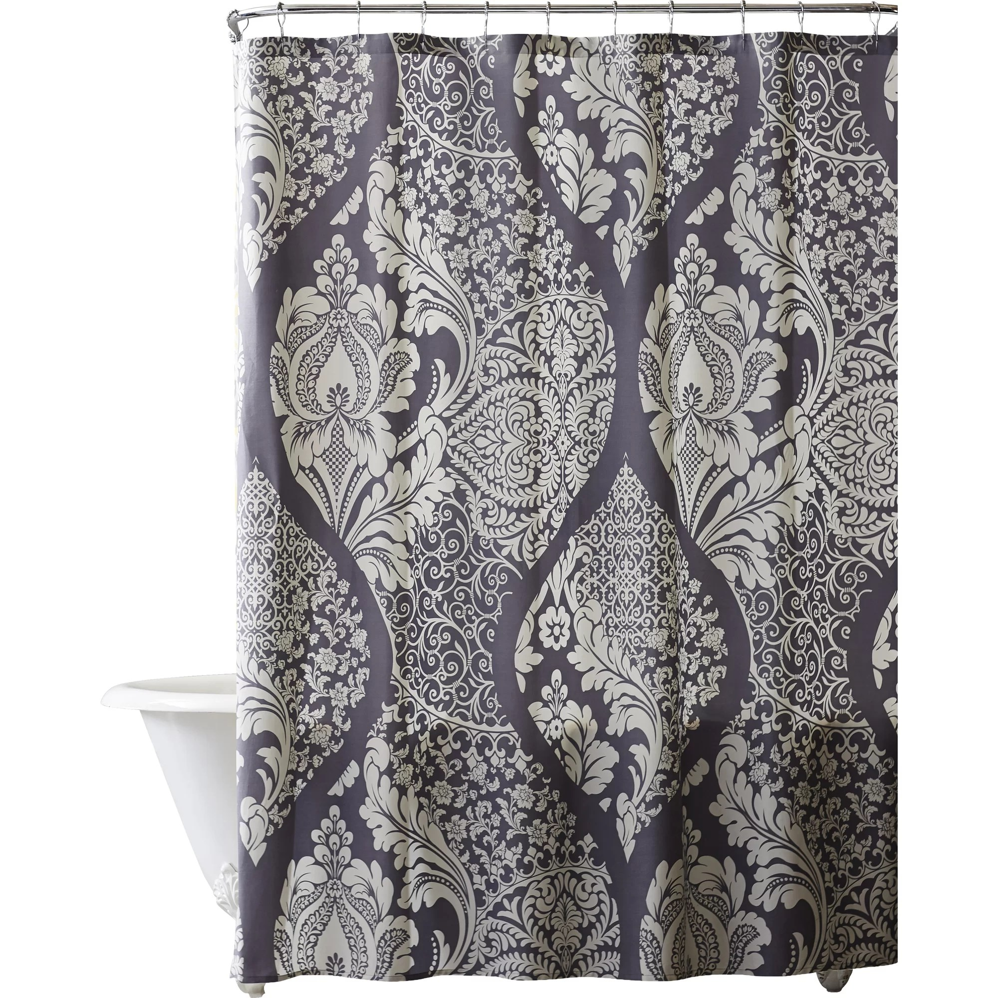 purple and gray shower curtain. white and purple shower curtain part 31 curtains Purple Shower Curtain  Designs Direct Watercolor Botanicals