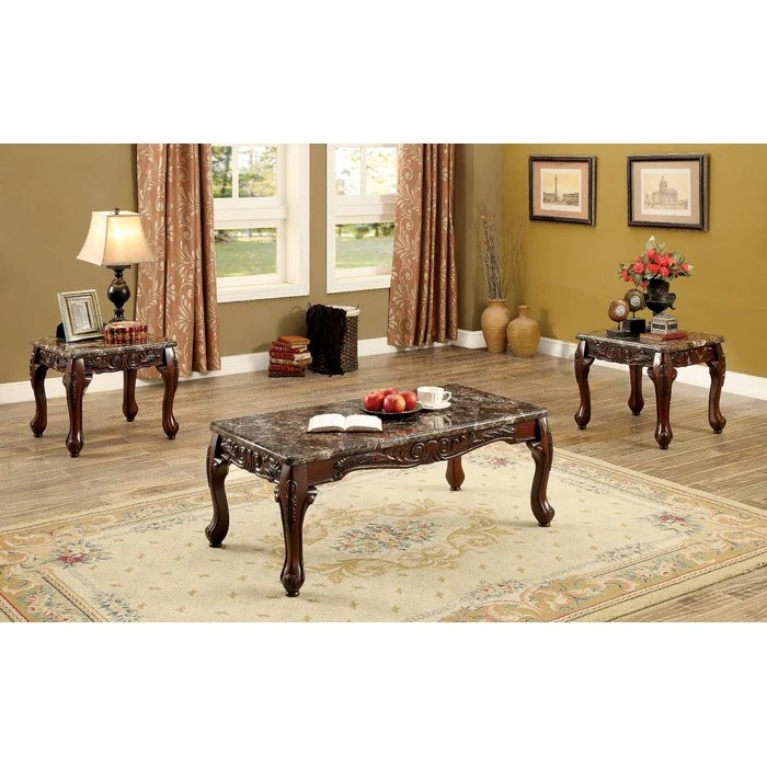 Astoria Grand Doory 3 Piece Coffee Table Set \ Reviews Wayfair - 3 piece living room table set