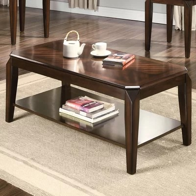 ACME Furniture Docila Walnut 3 Piece Coffee Table Set \ Reviews - 3 piece living room table set