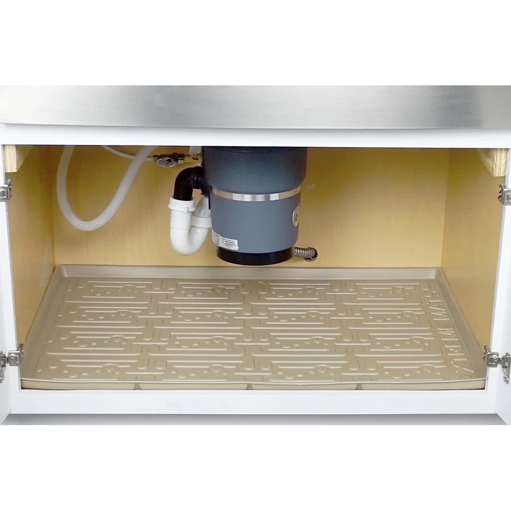 Under Sink Kitchen Cabinet Mat Drip Tray Xtreme Mats Under Sink Kitchen Drip Tray And Reviews