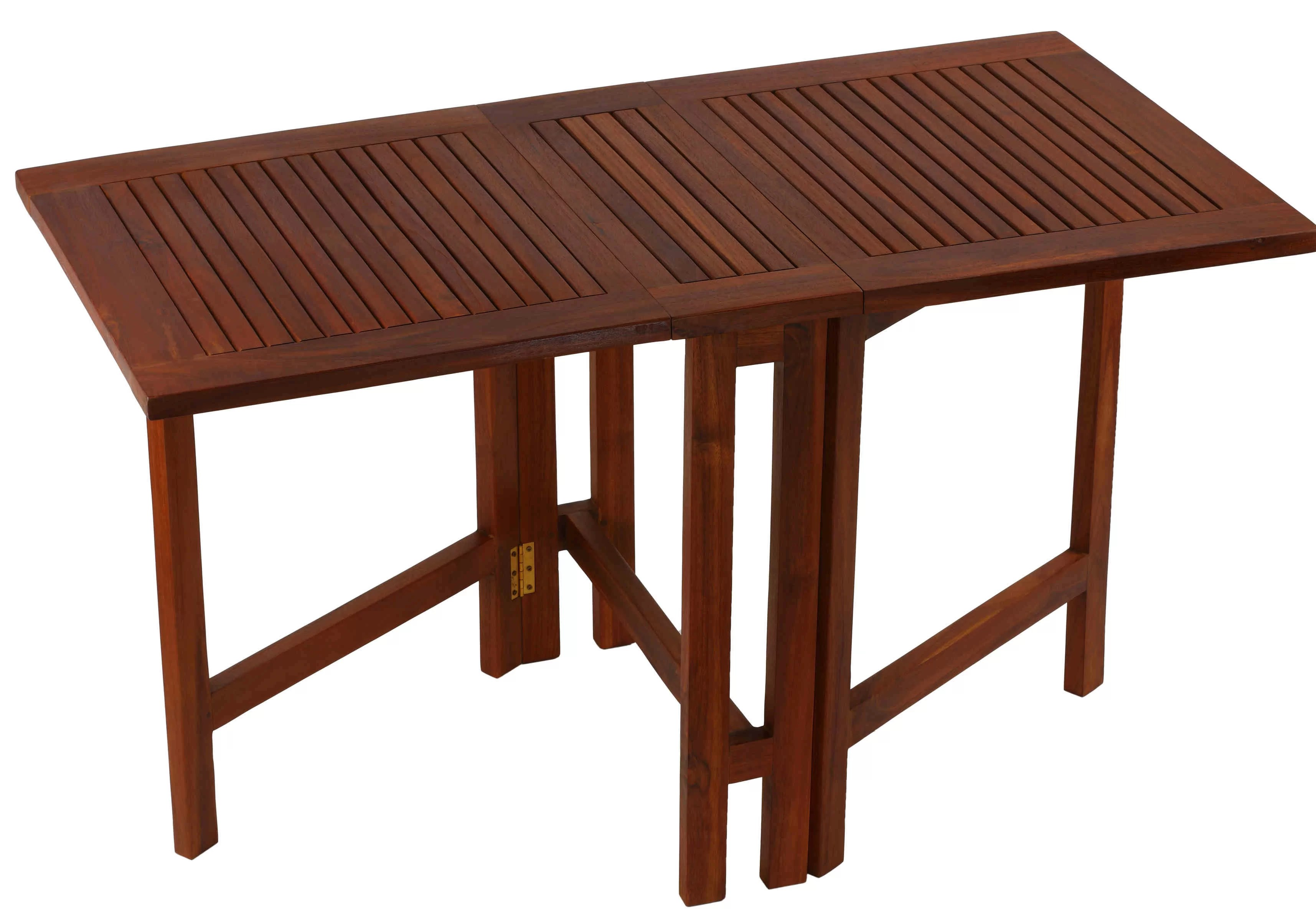 Highland Dunes Kinner Folding Teak Dining Table Reviews Wayfair