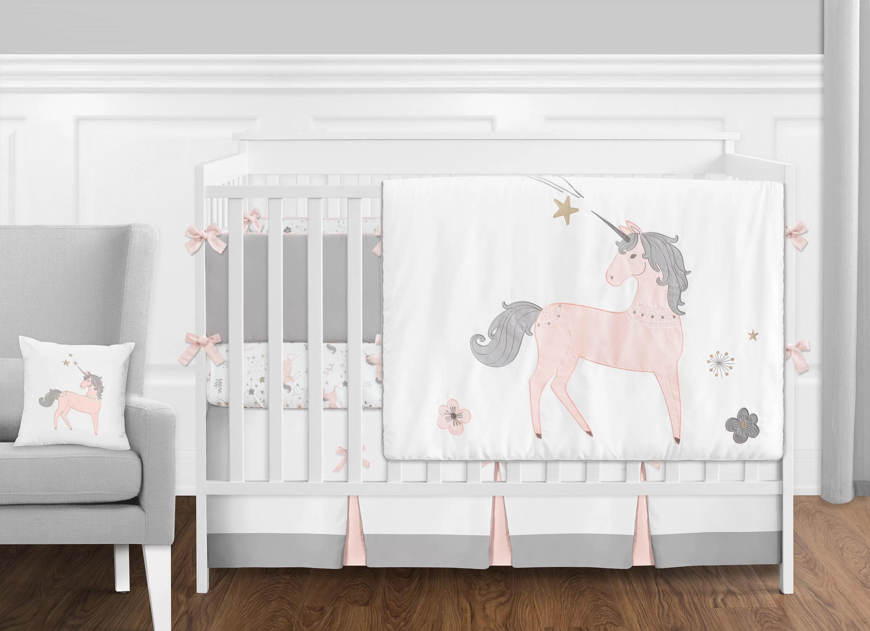Full Crib Bedding Sets Unicorn 9 Piece Crib Bedding Set