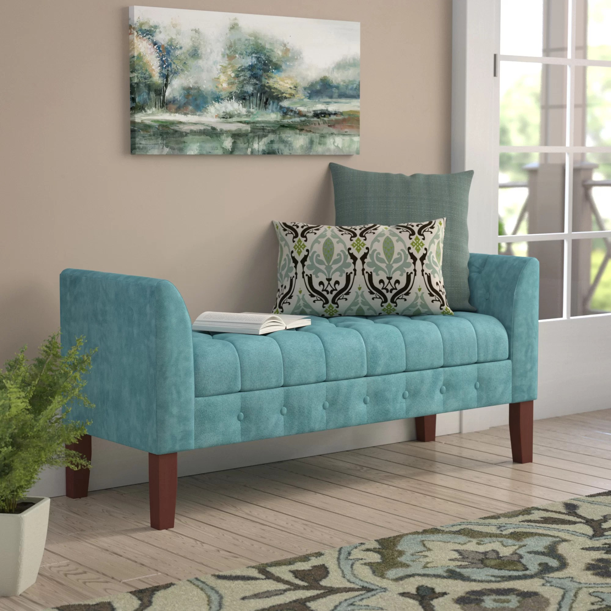 Bed End Storage Hana Upholstered Storage Bench