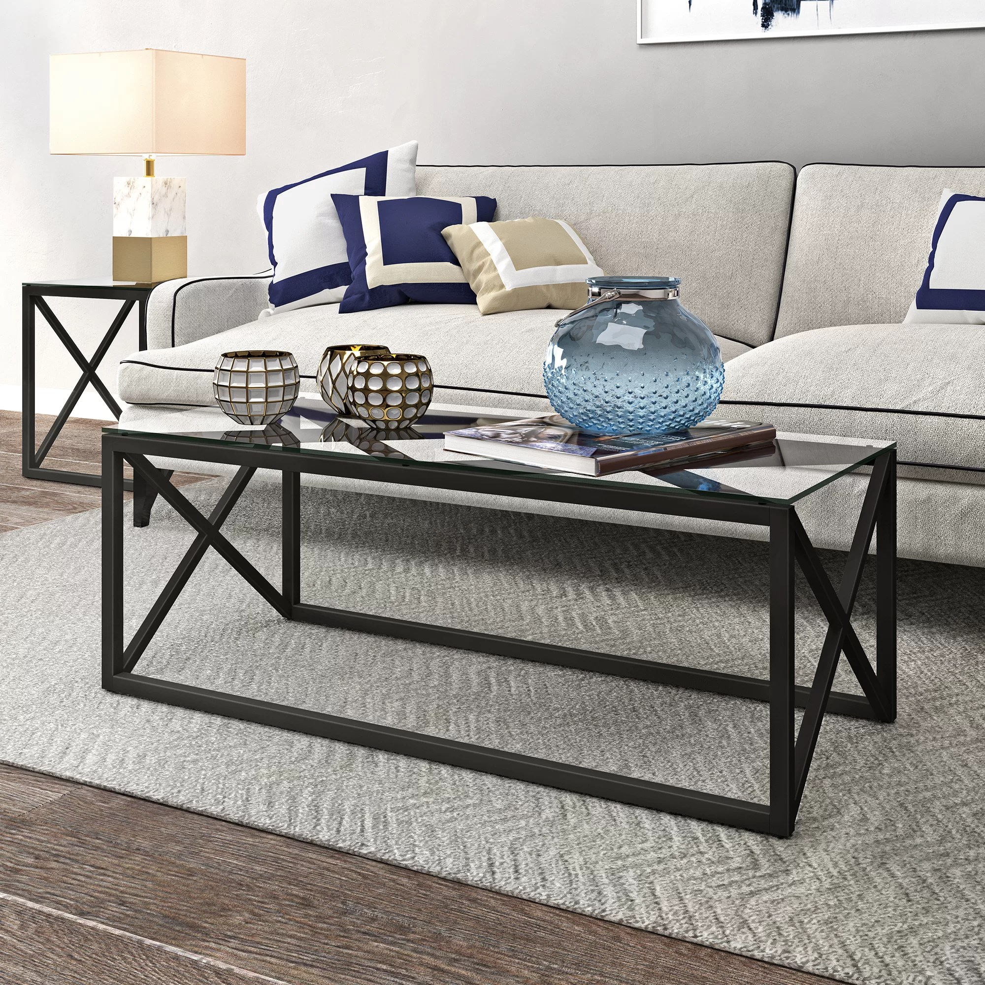 Classic Table Shapes Iliomar Coffee Table With Tray Top