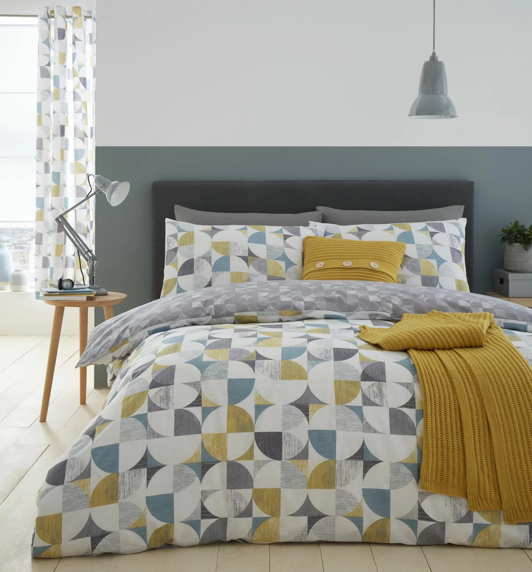 Catherine Lansfield Retro Circles Easy Care Duvet Reviews Wayfair Co Uk