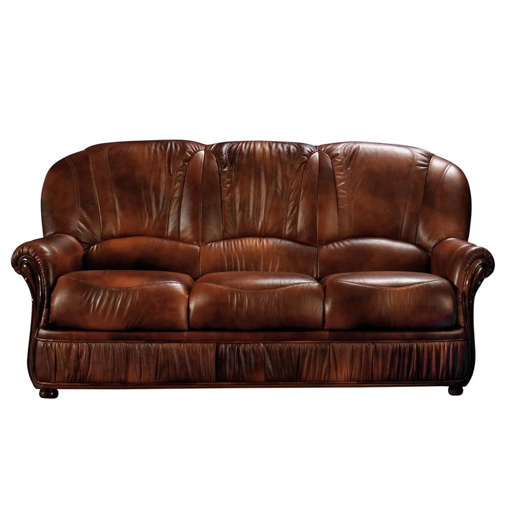 Brown Real Leather Couch Brown Leather Sofa