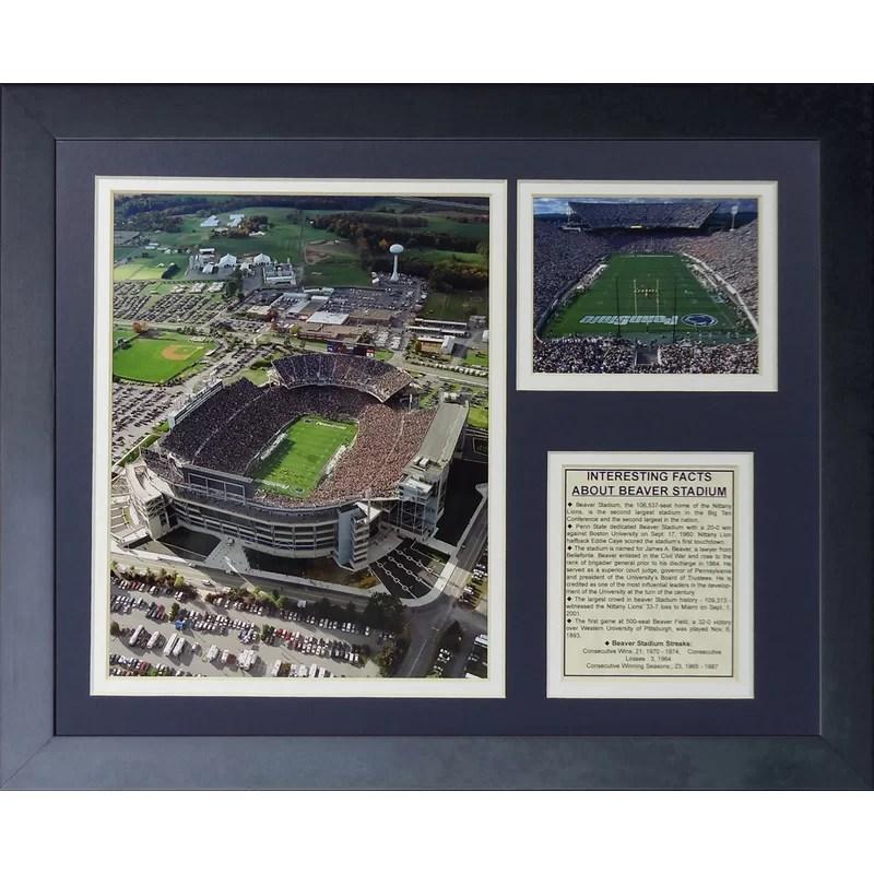 Legends Never Die Penn State Nittany Lions Beaver Stadium Framed