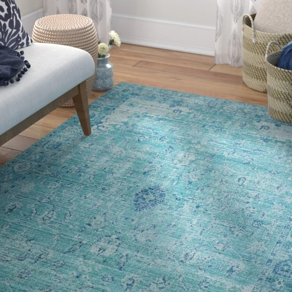 Teal Color Area Rugs Privette Teal Area Rug