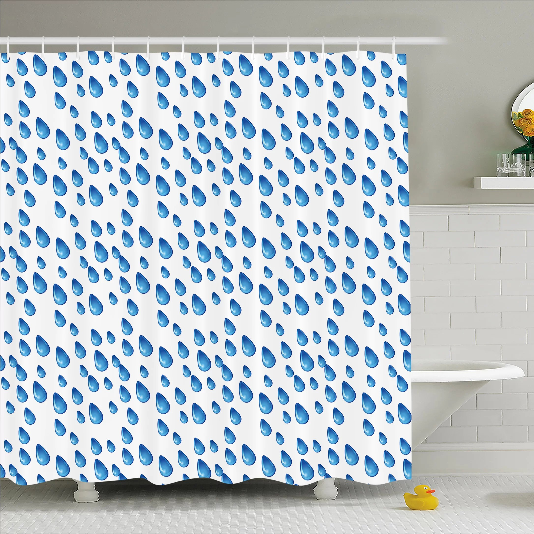 Air Curtain Shower Home Raindrops Fall Autumn Ritual Climate Gravity Water Cycle Air Mass Image Shower Curtain Set