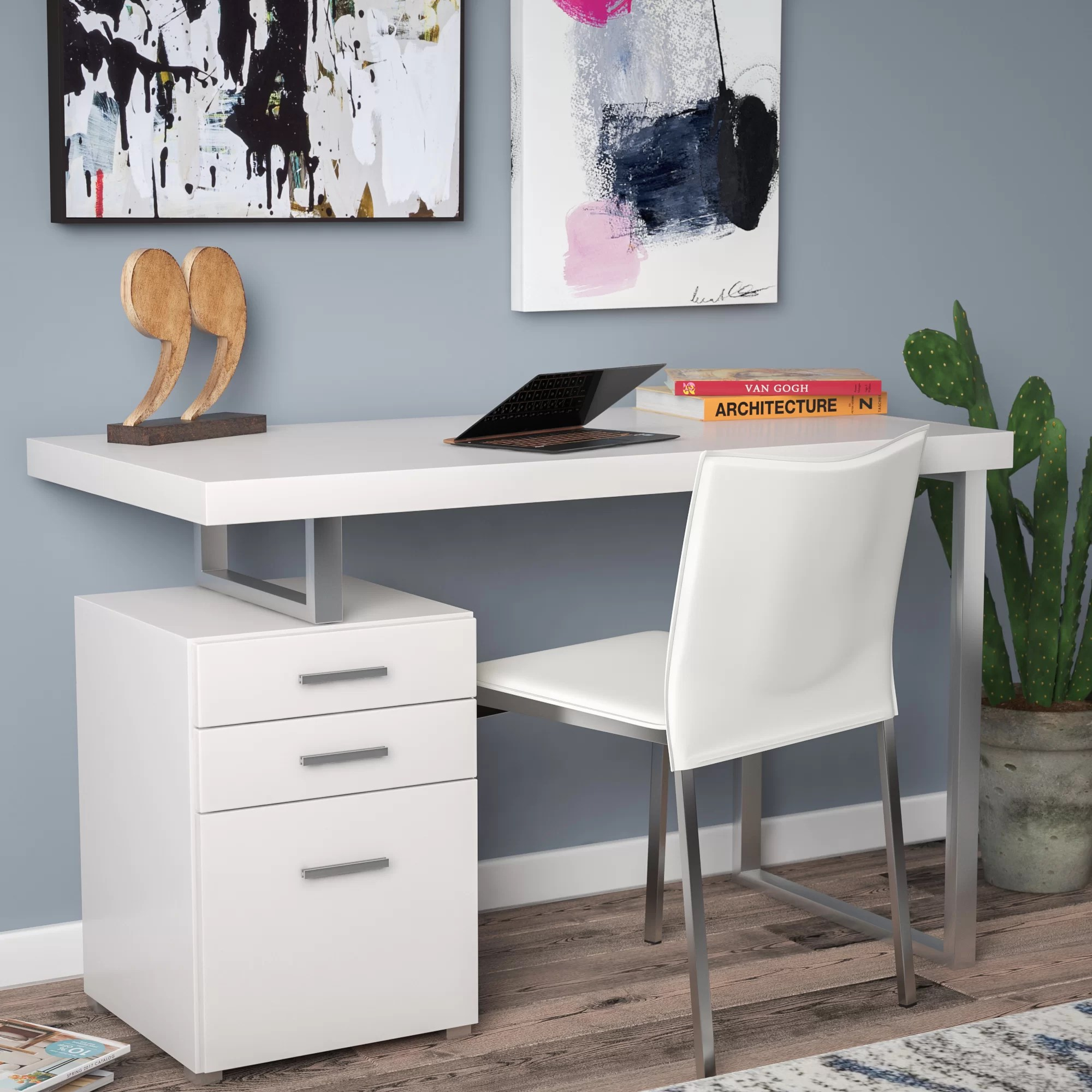 Desk With File Cabinet Simonton Writing Desk