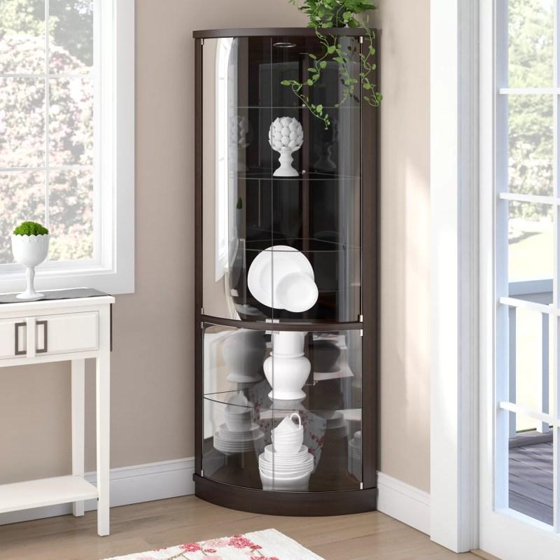 Large Of Corner Curio Cabinet