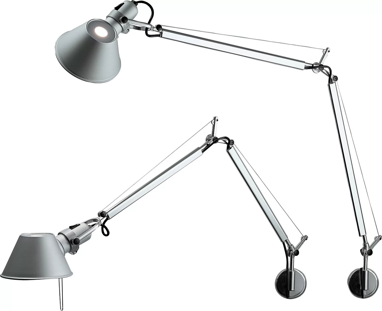 Arm Lamp Tolomeo 1 Light Plug In Swing Arm Lamp