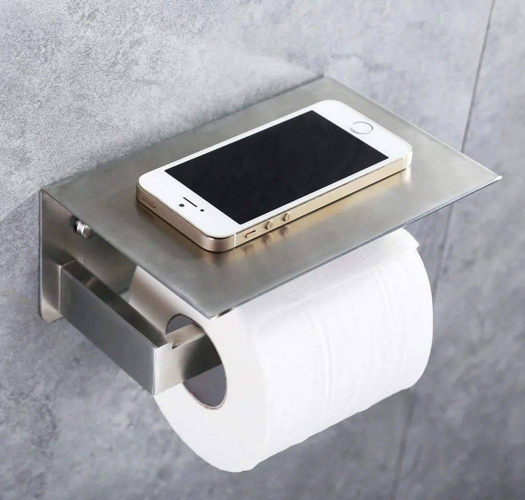 Stainless Steel Toilet Roll Holder Stainless Steel Wall Mount Toilet Paper Holder With Shelf