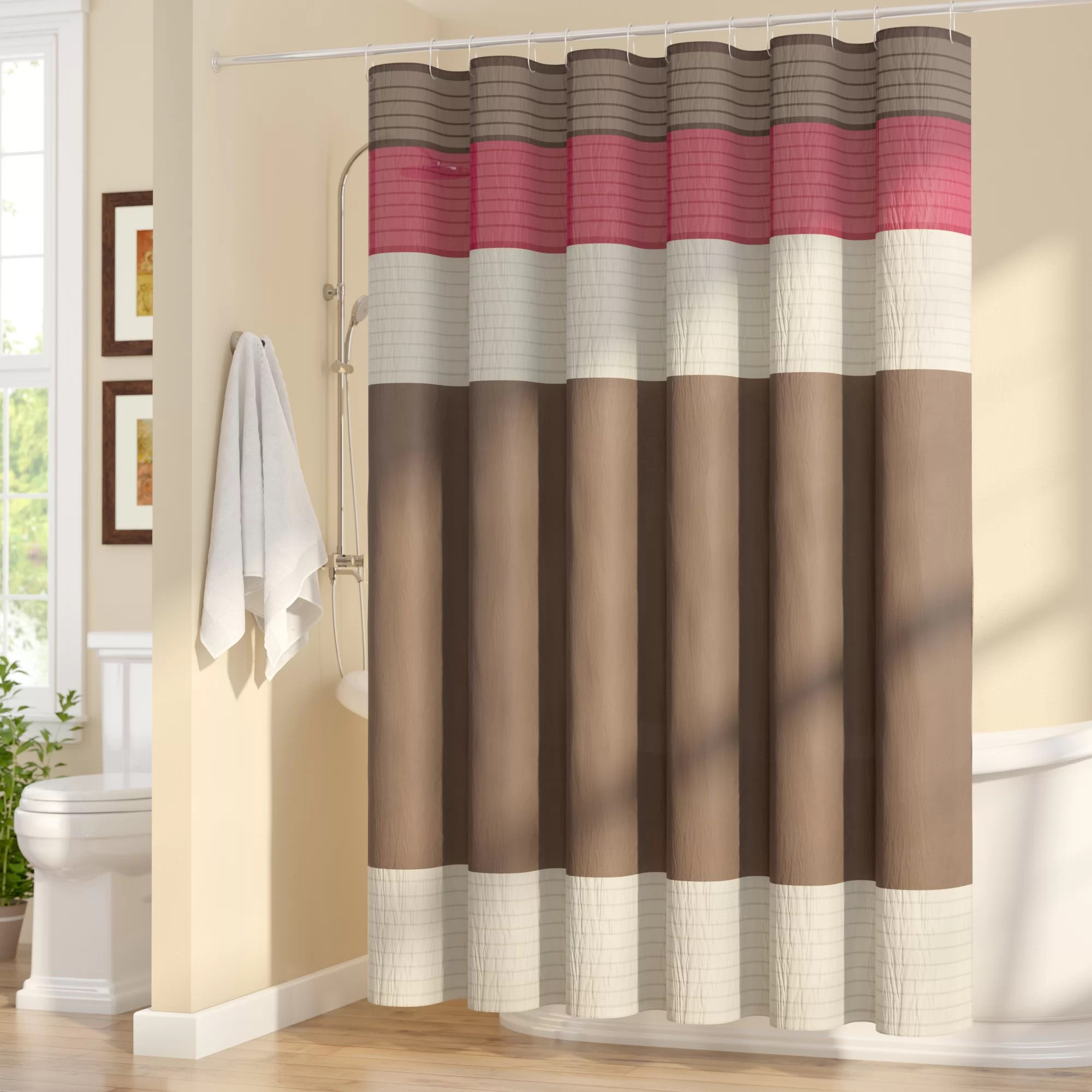 108 Inch Wide Shower Curtain Liesel Single Shower Curtain