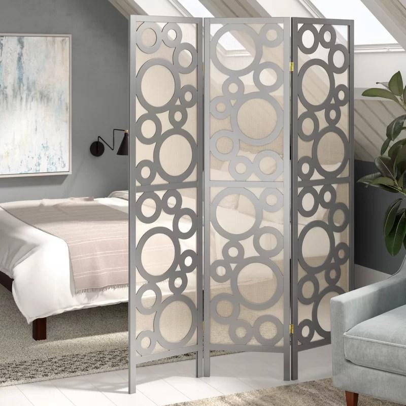 Latitude Run Isbell Bubble Design 3 Panel Room Divider  Reviews