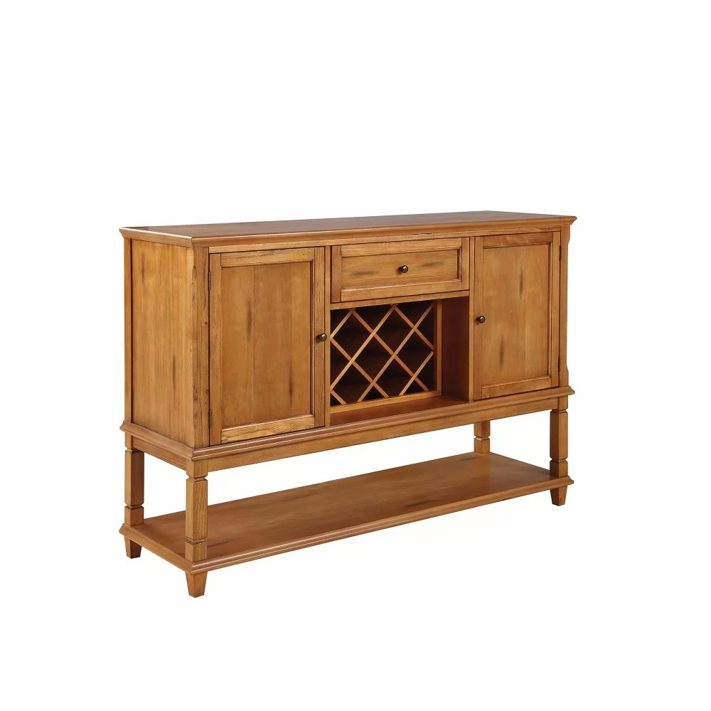 Buffet Sideboard With Wine Rack Kukkapalli Wooden Buffet Table With Wine Rack
