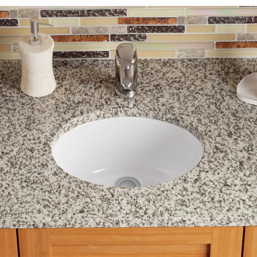 Mrdirect Vitreous China Oval Undermount Bathroom Sink With Overflow Reviews Wayfair Ca