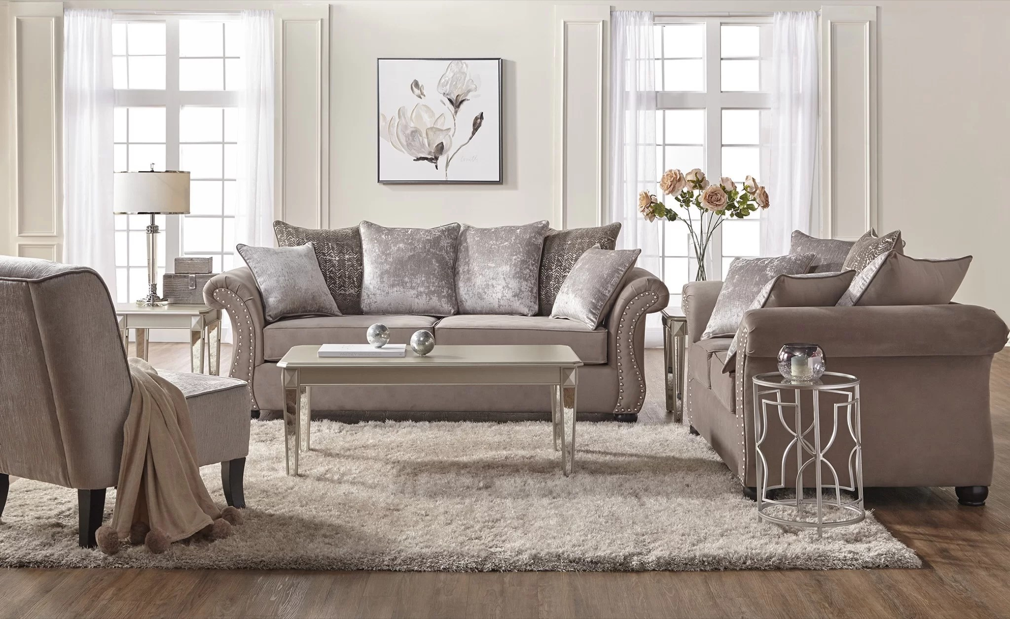 Contemporary Living Set Bedingfield Contemporary 2 Piece Living Room Set