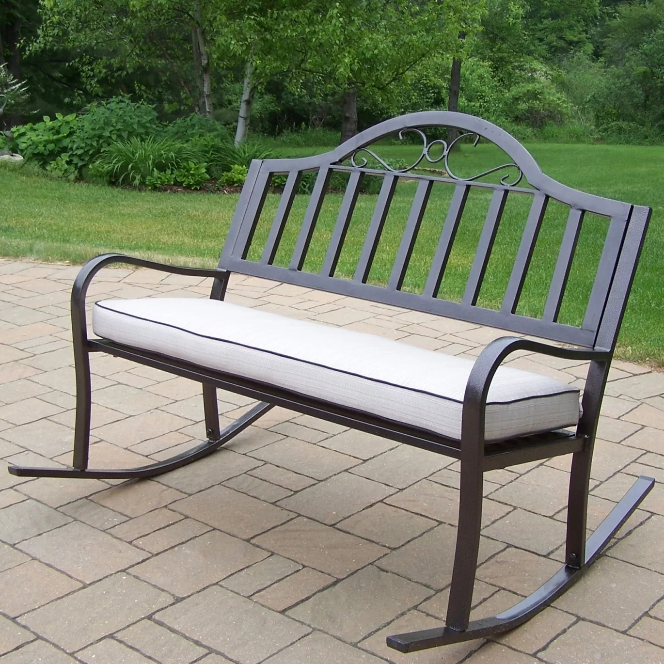 Small Garden Bench Lisabeth Metal Rocking Garden Bench