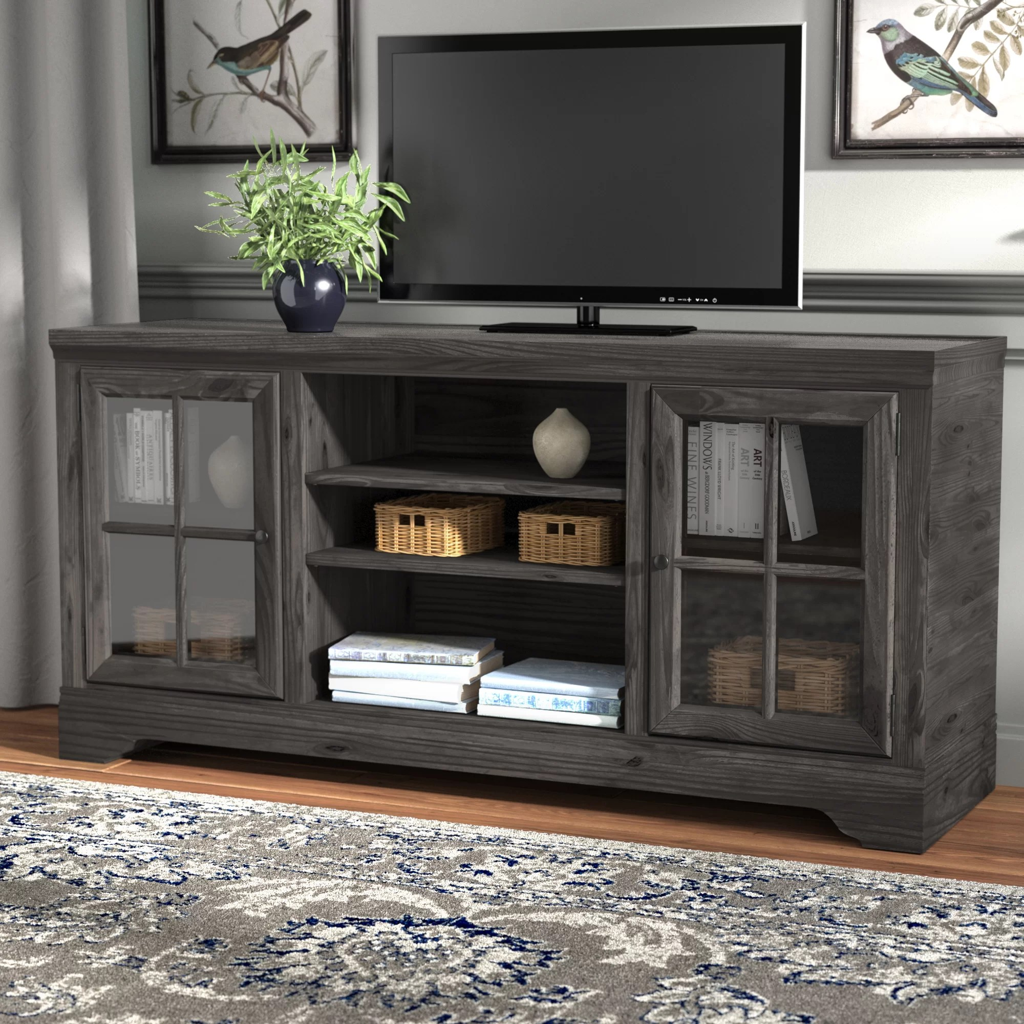 Meubles Zurich Zurich Tv Stand For Tvs Up To 65