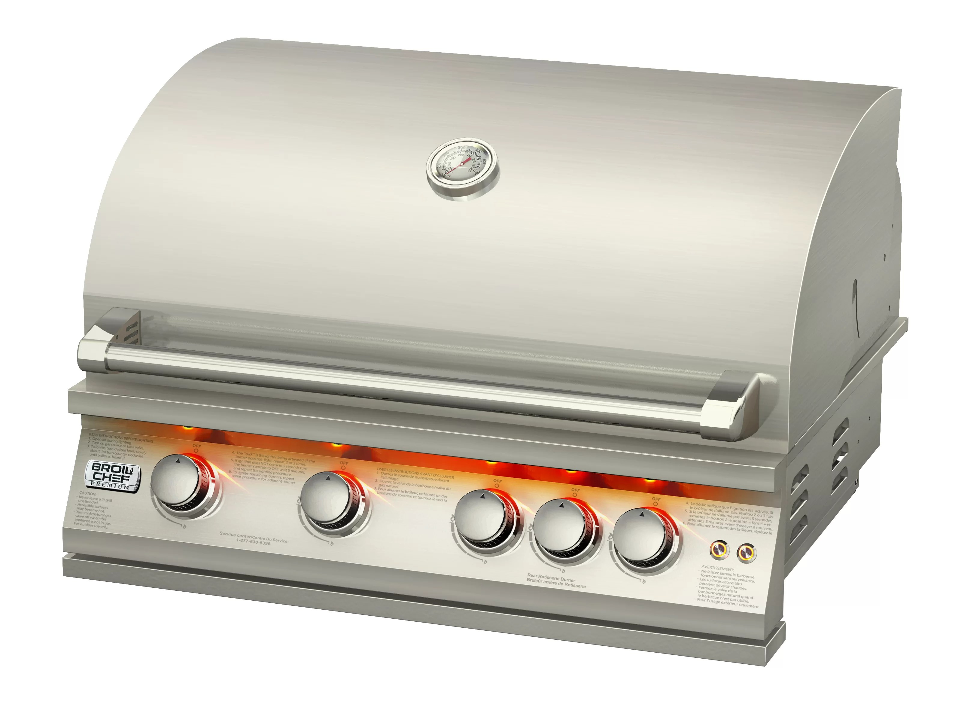 Broilchef 4 Burner Built In Propane Gas Grill Reviews Wayfair Ca