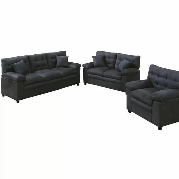 Black Living Room Sets Youu0027ll Love Wayfair - black living room sets