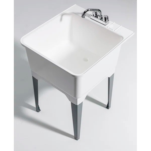 Cashel 2275quot X 2525quot Free Standing Laundry Utility Sink