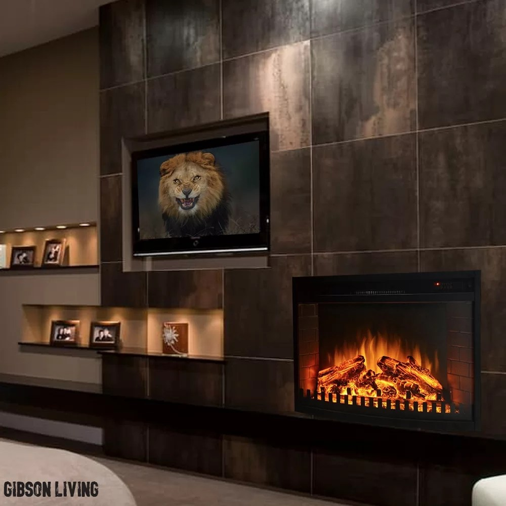 Curved Electric Fireplace Perkins Wall Mounted Electric Fireplace