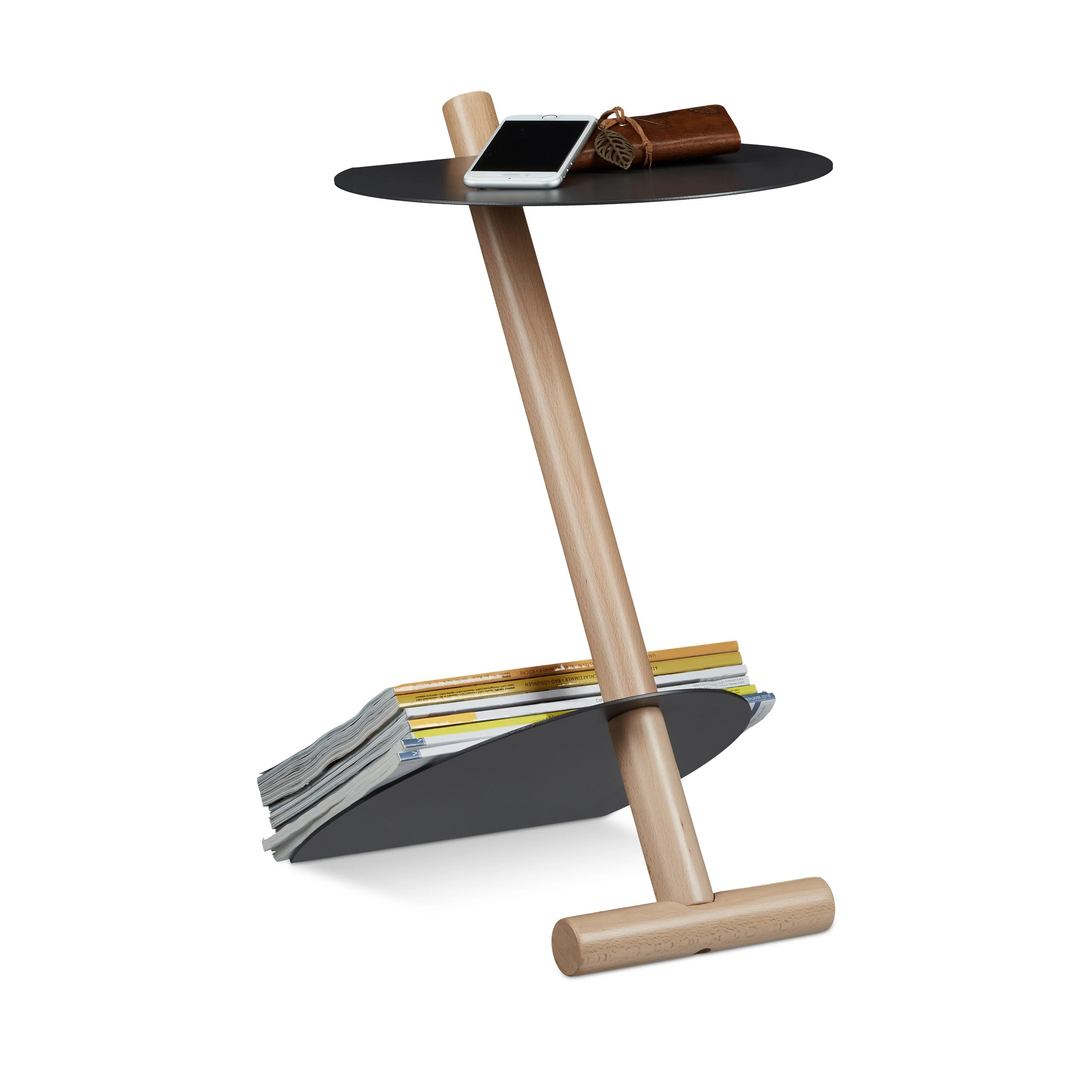 Küche Modern Side By Side Modern Metal And Wood Side Table With Storage