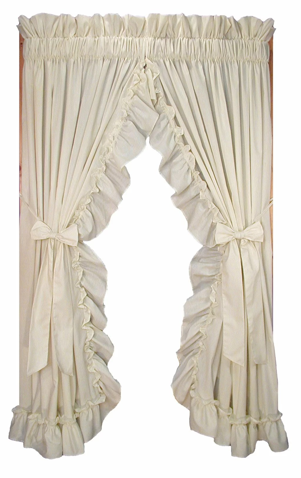 Ruffle Curtain Panel Winland Country Ruffled Priscilla Solid Semi Rod Pocket Curtain Panels