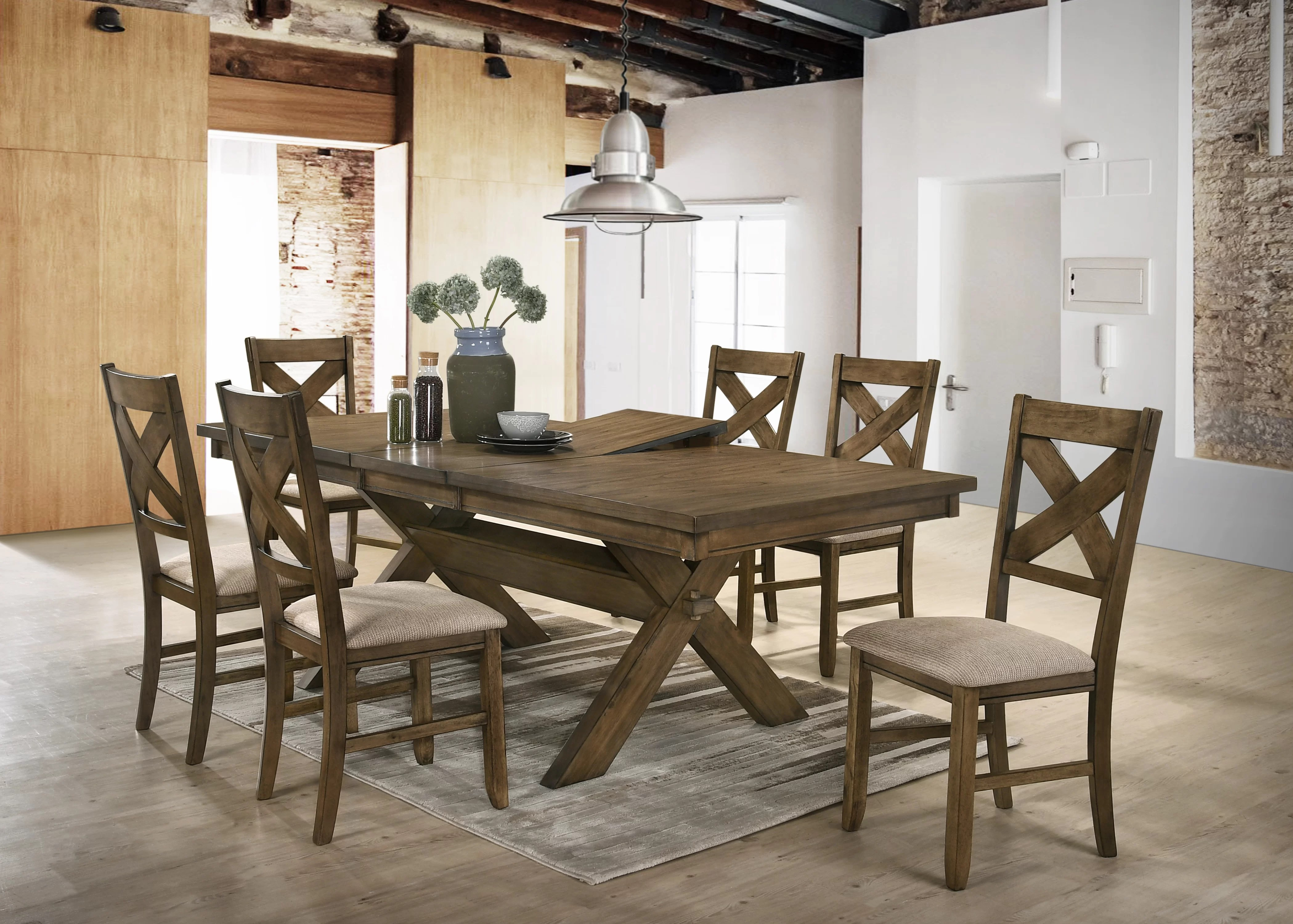 Dining Area Poe 7 Piece Extendable Dining Set