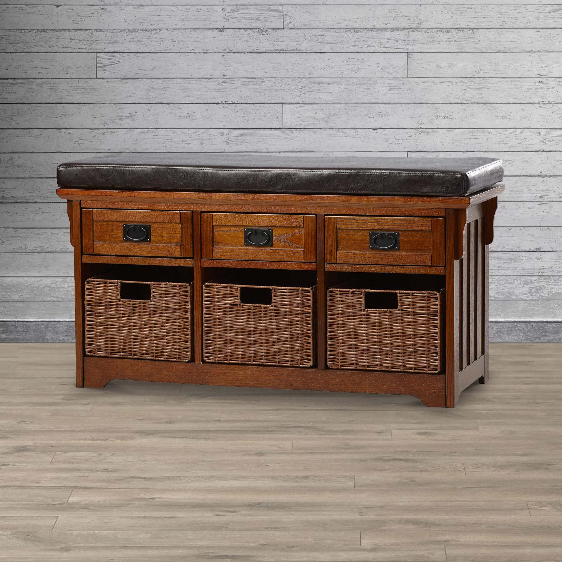 Wooden Storage Bench Hemlock Wooden Storage Bench