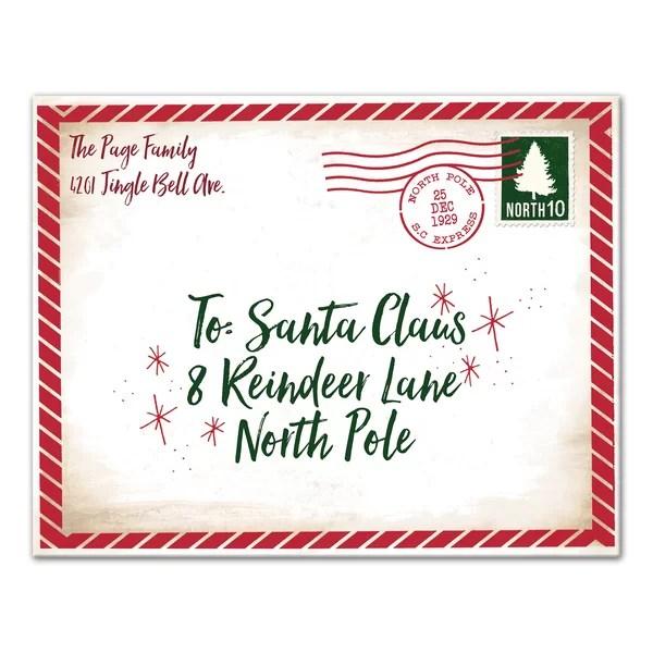 Designs Direct Creative Group \u0027Dear Santa Envelope\u0027 Textual Art on