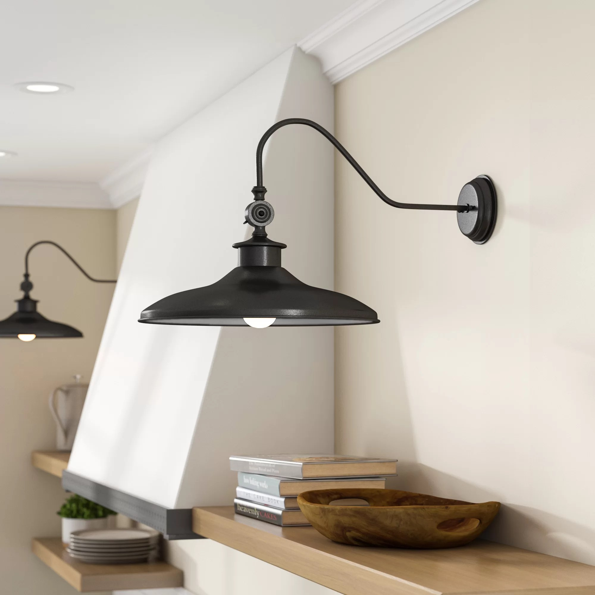 Modern Farmhouse Track Lighting Spartansburg 1 Light Armed Sconce