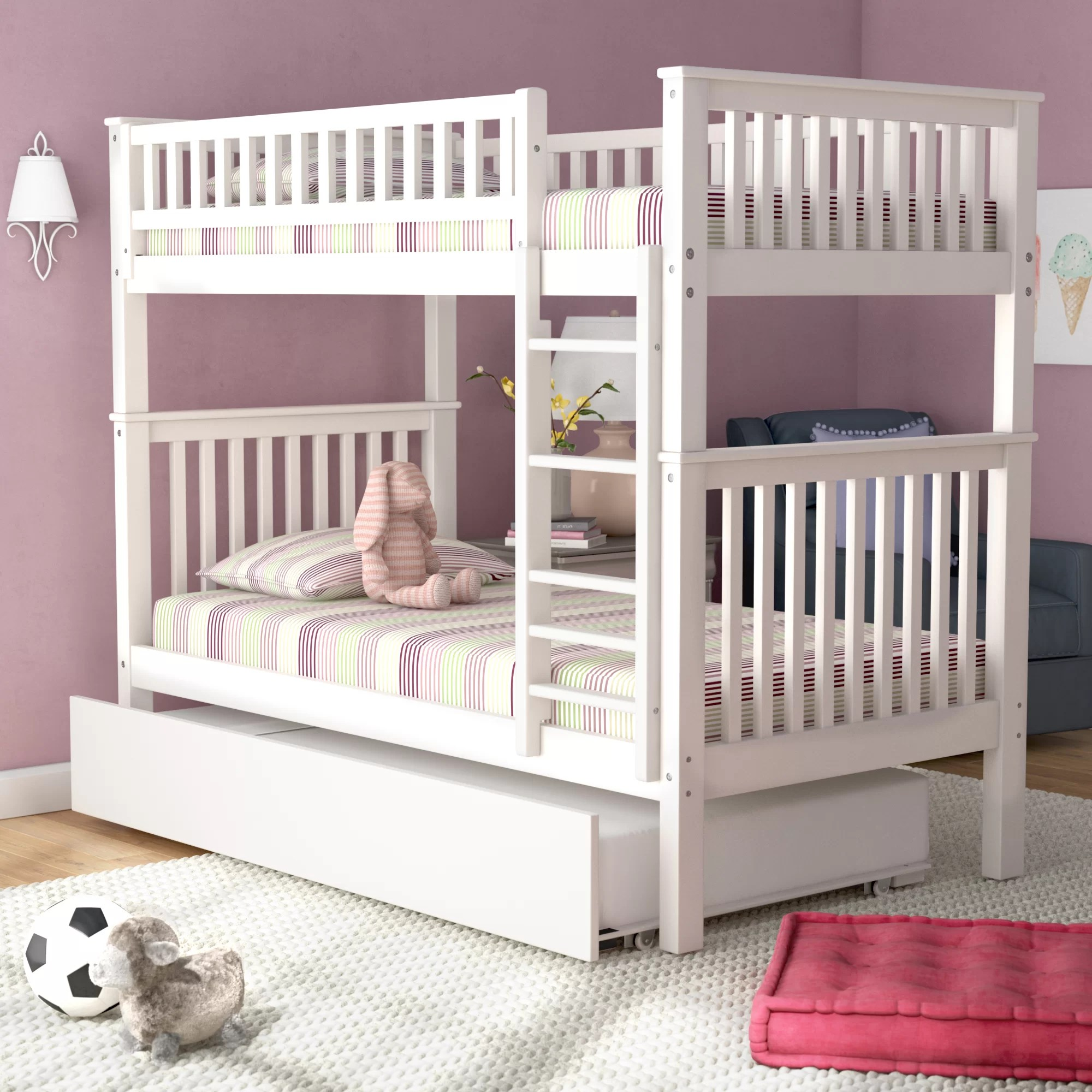 Snooze Bunk Beds Shultis Twin Over Twin Bunk Bed With Trundle