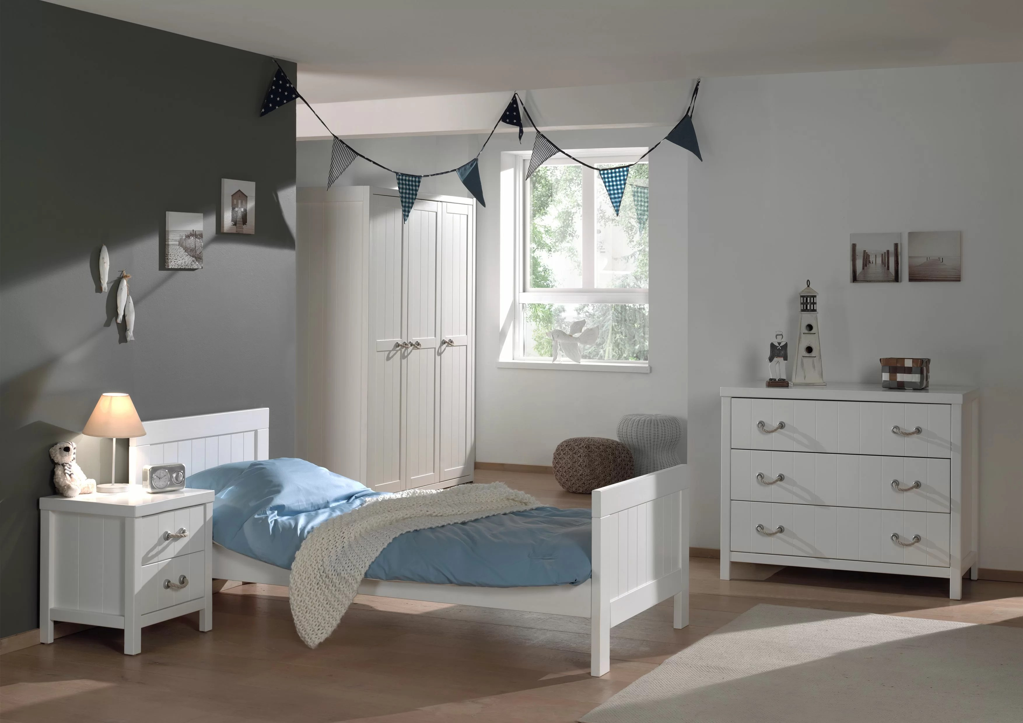 Schlafzimmer Set 4 Tlg. Set Kiefer Massiv Weiß Lava Harriet Bee 4-tlg. Schlafzimmer-set Anthony | Wayfair.de