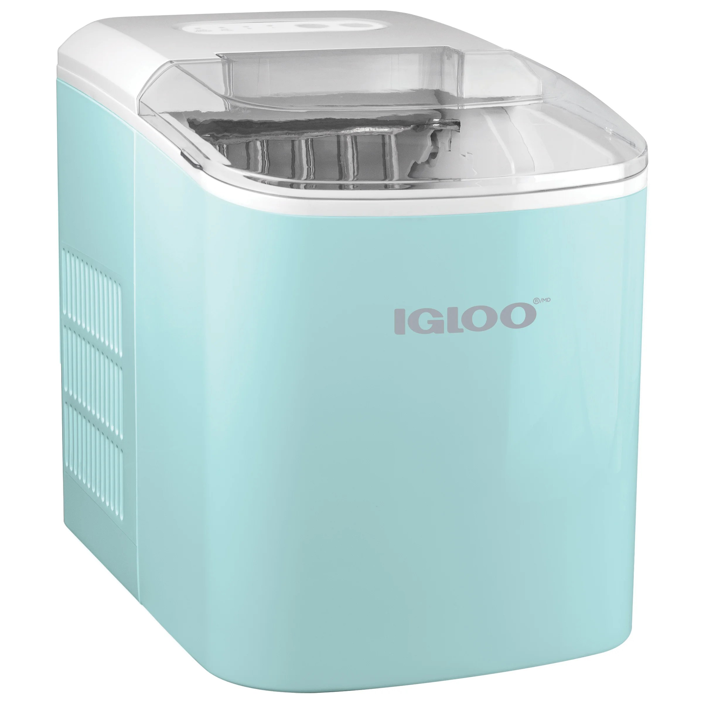 Igloo Retro Automatic Portable Electric Countertop Ice Maker Machine 26 Pounds In 24 Hours With Ice Scoop And Basket Reviews Wayfair