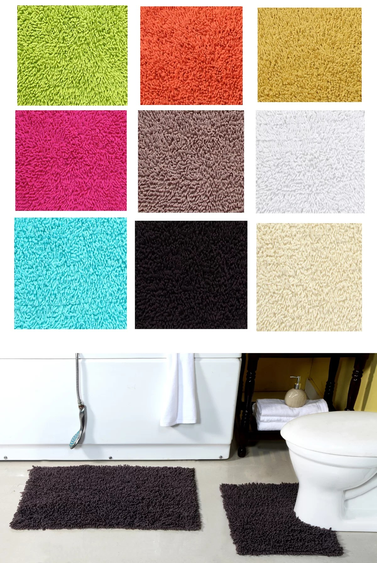 Badteppich Set Waldron Bath Mat Set