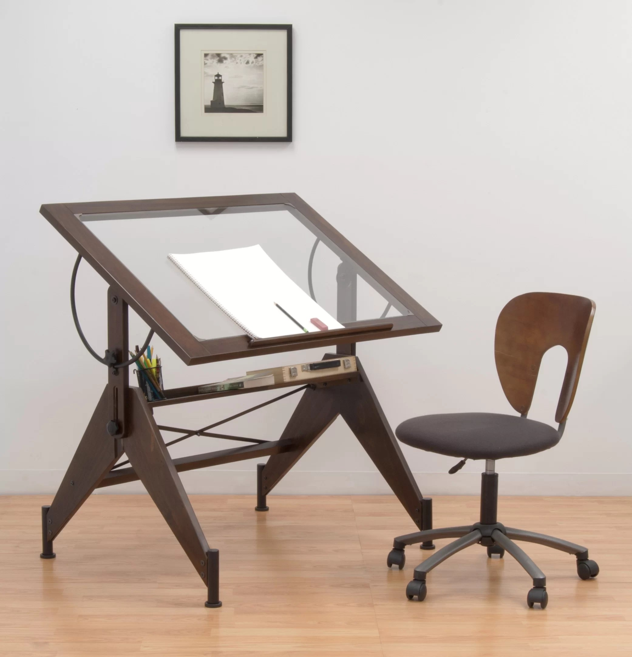 Adjustable Height Drafting Table Aries Drafting Table