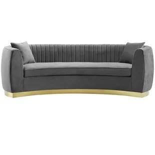 Modern  Contemporary Curved Sofa AllModern