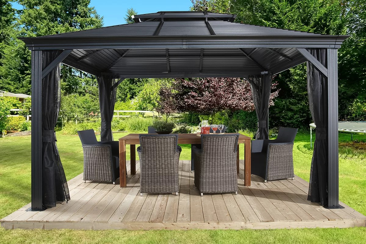 Aluminium Pavillon 3x4 Sojag Mykonos Ii Aluminum Patio Gazebo And Reviews Wayfair