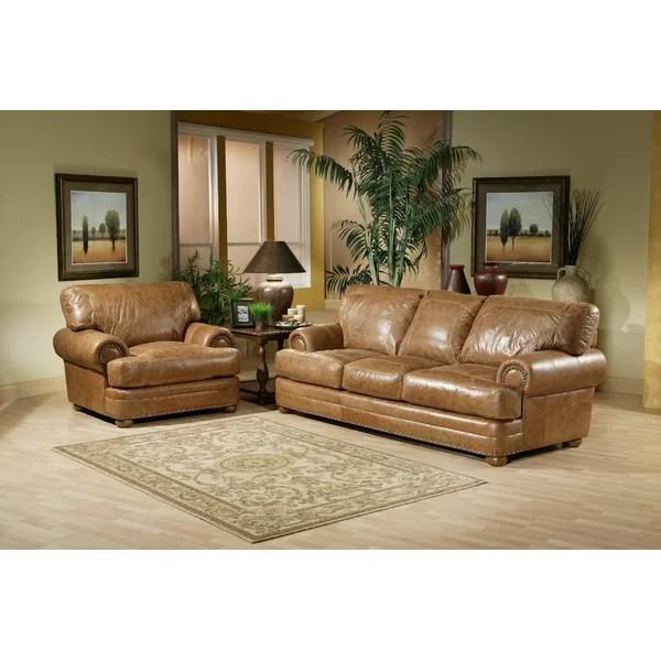 Omnia Leather Houston Leather Configurable Living Room Set - living room furniture houston