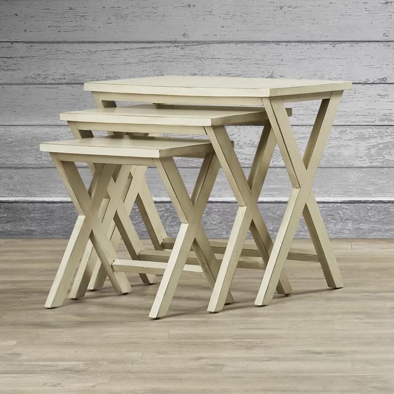 Loon Peak Edgecomb 3 Piece Nesting Tables  Reviews Wayfair