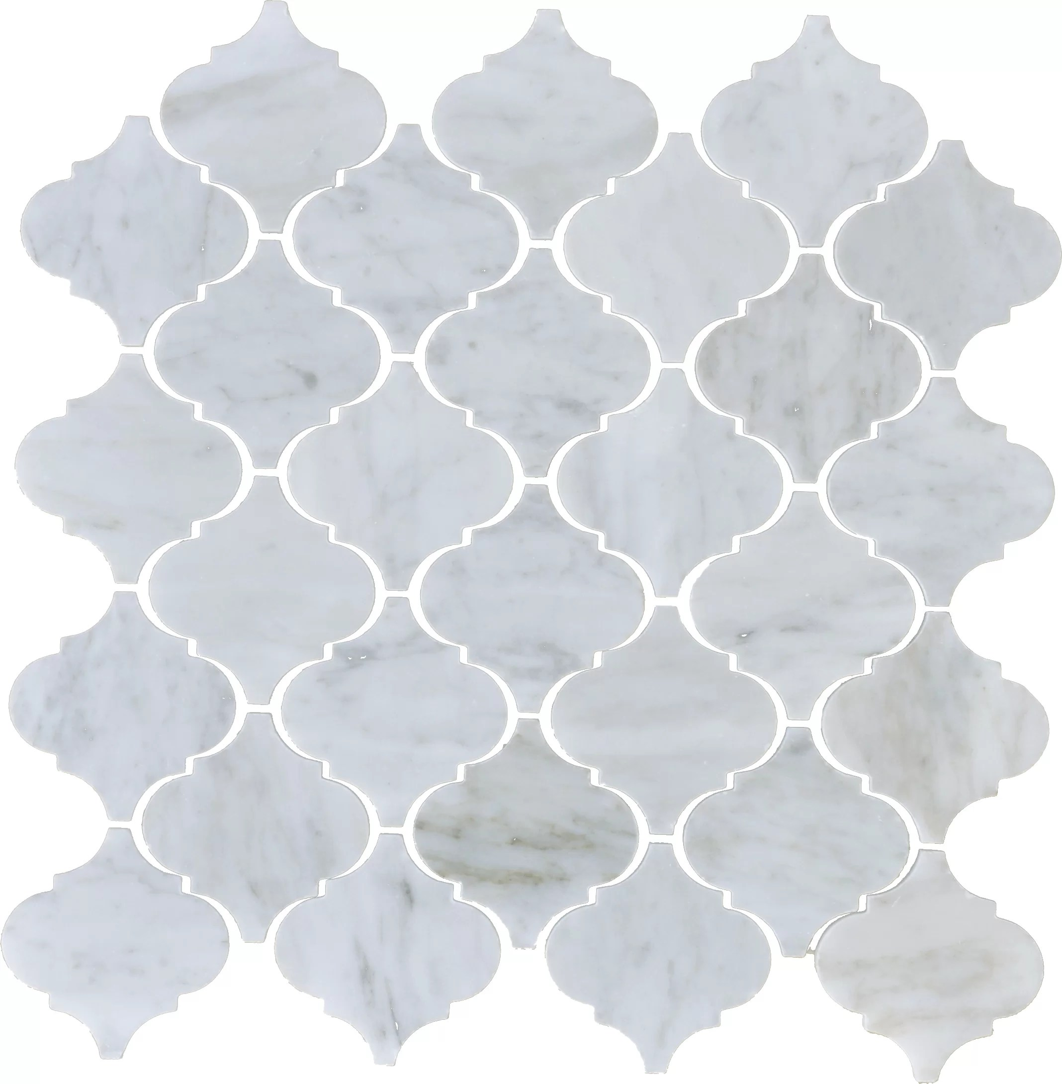 Arabesque Marble Tile Carrara Arabesque Marble Mosaic Tile In White