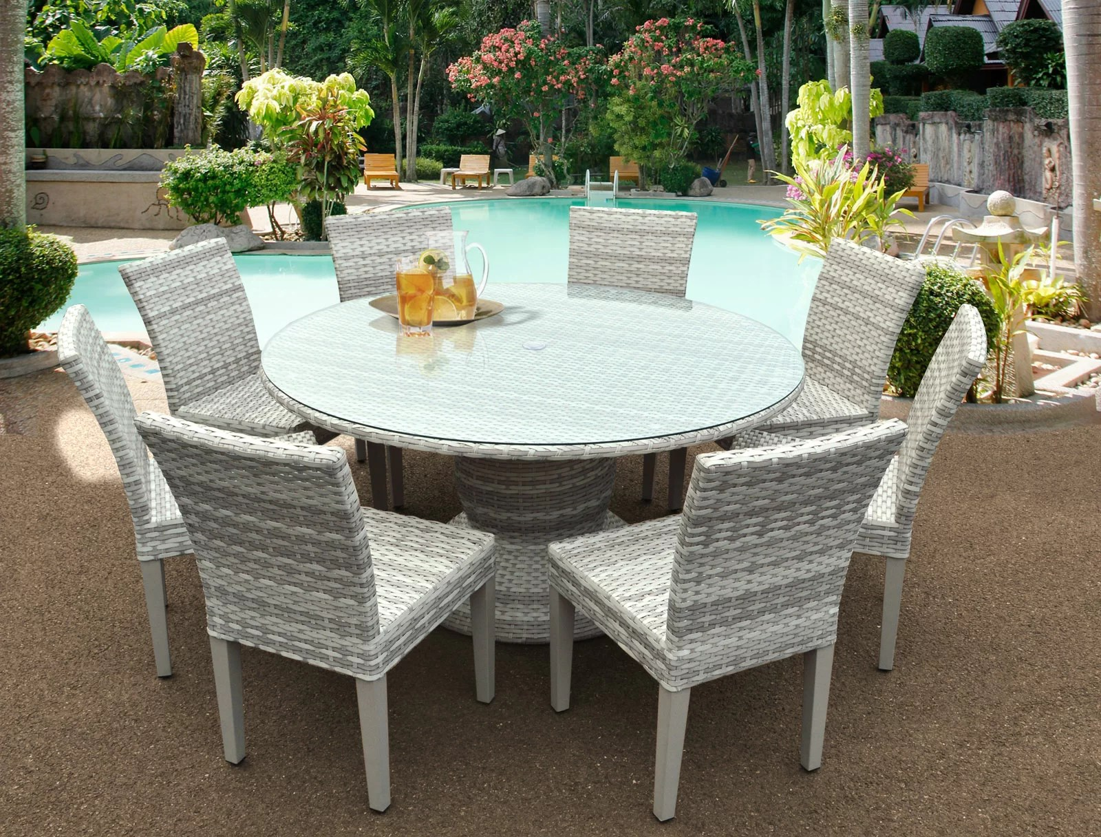 9 Piece Outdoor Dining Set Ansonia 9 Piece Outdoor Dining Set