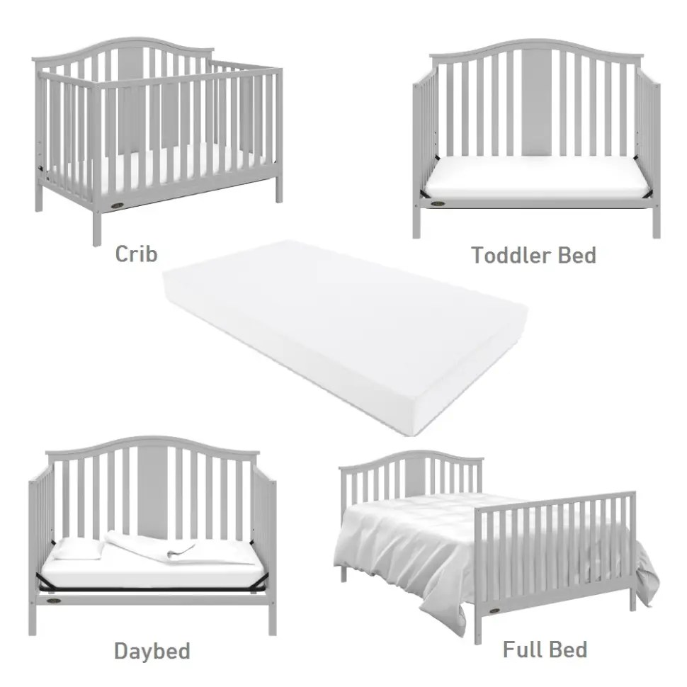 Full Bed Mattress Solano 4 In 1 Convertible Crib With Mattress