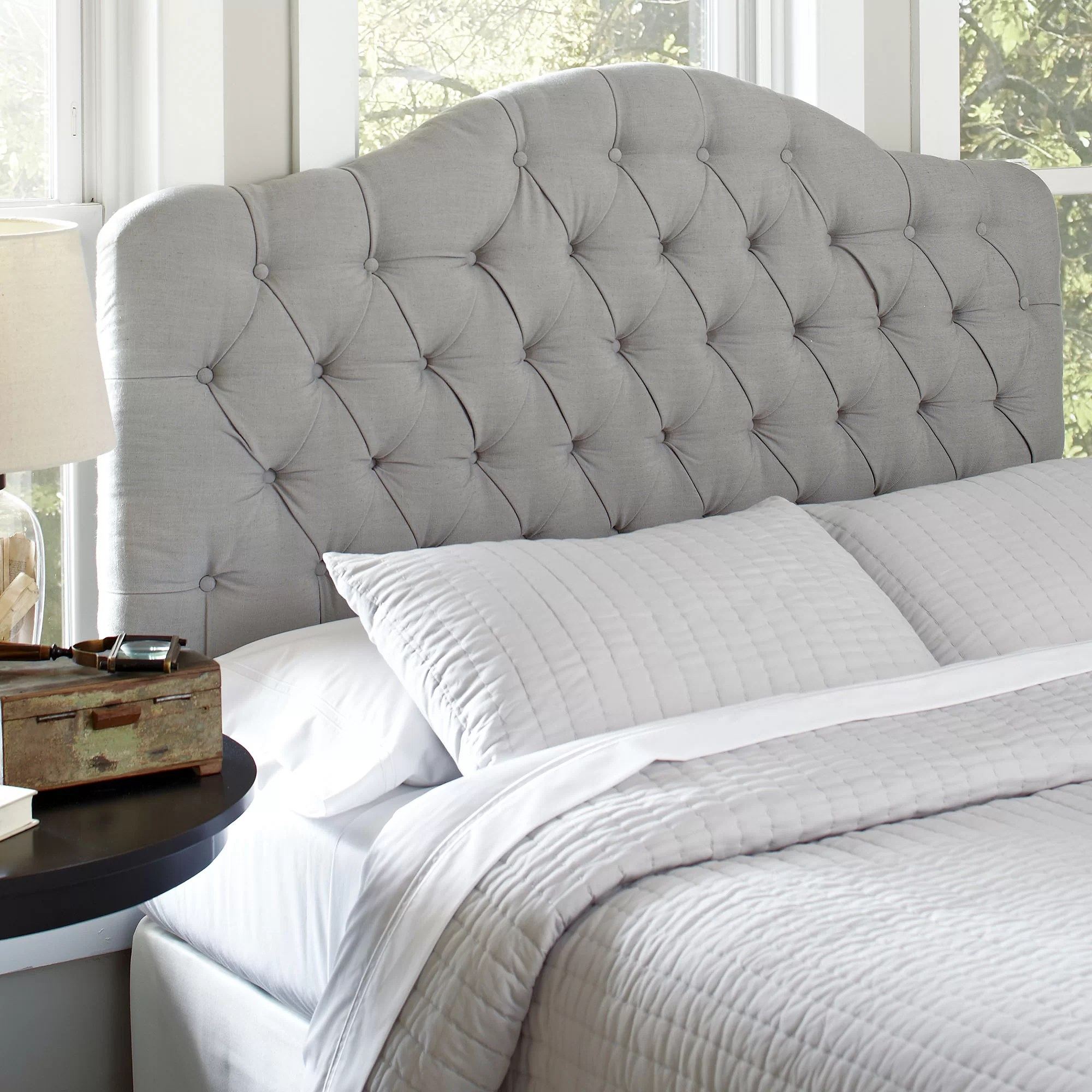 Bed Headboard Genevra Upholstered Panel Headboard
