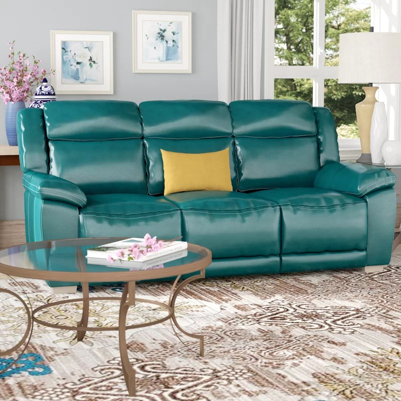 Red Barrel Studio Evansburg Leather Reclining Sofa